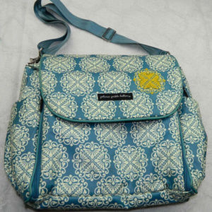 PETUNIA PICKLE BOTTOM Damask Blue DIAPER BAG